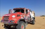 Firemen Dakarteam crasht in Dakar rally
